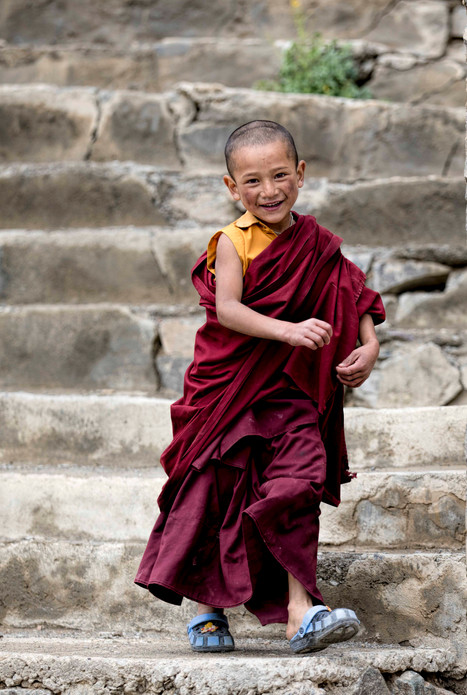 The novice monks are recruited at young age