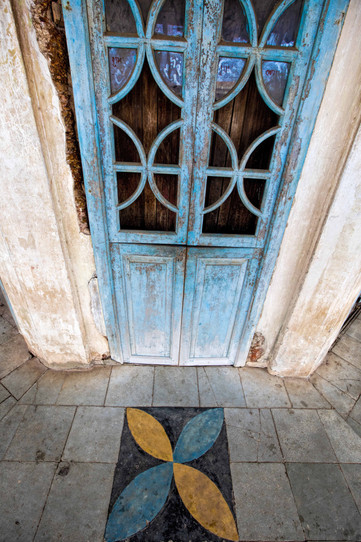 Doors in quirky portugese style