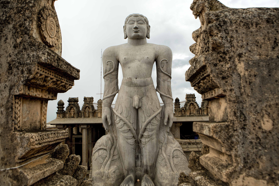 The statue of Bahubali
