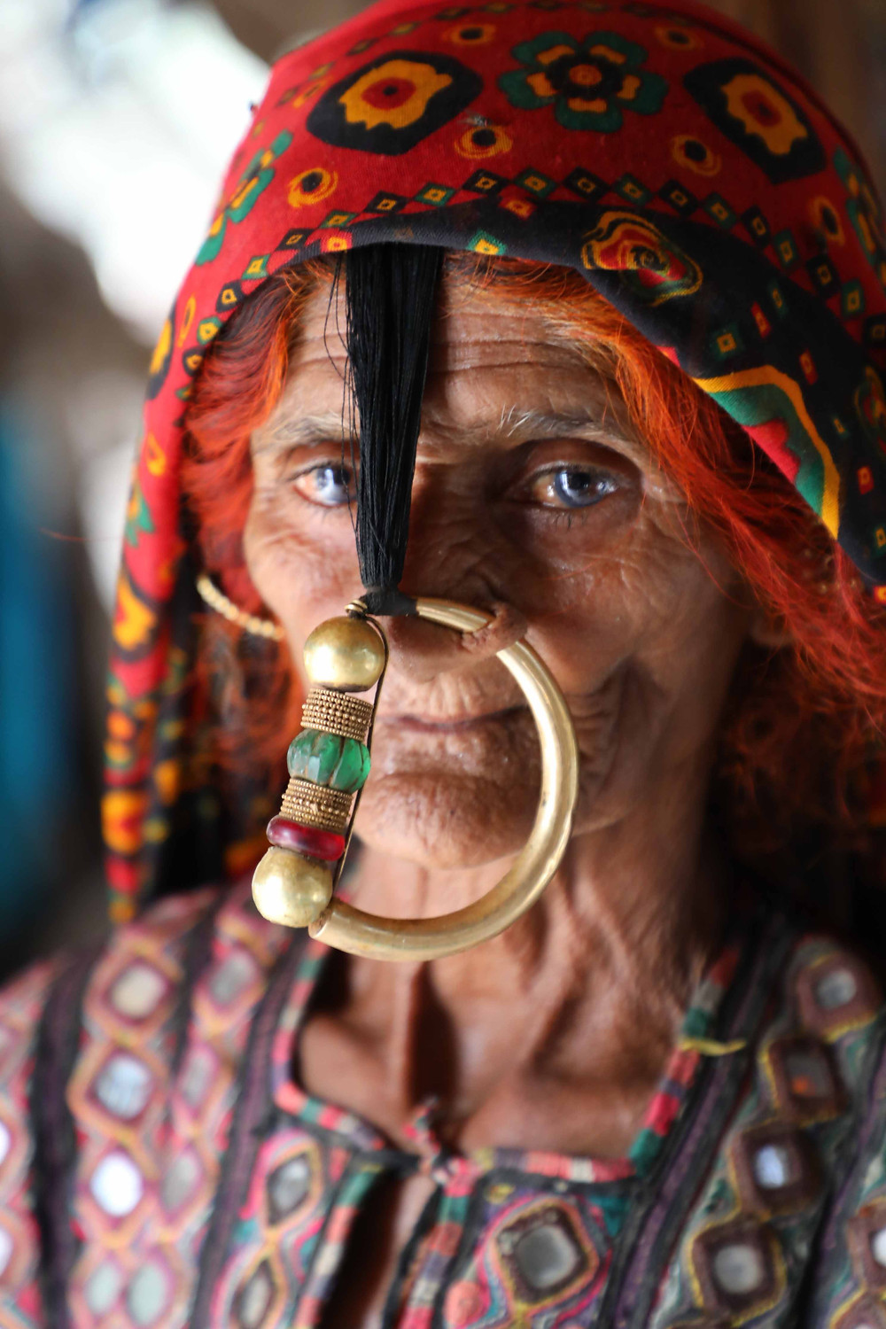 A dhaneta woman with the big nose ring