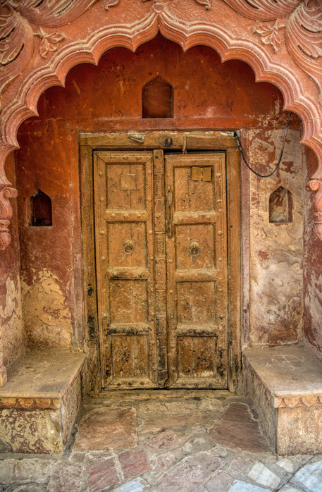 A door in ancient town of Mathura