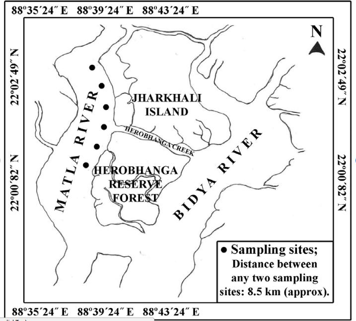 Jharkhali on map