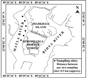 Jharkhali on map