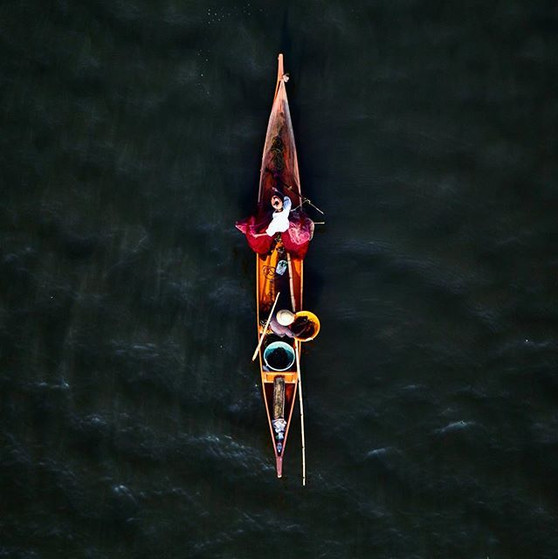 A fishing boat, Vembanad Backwaters, Alleppey, Kerala