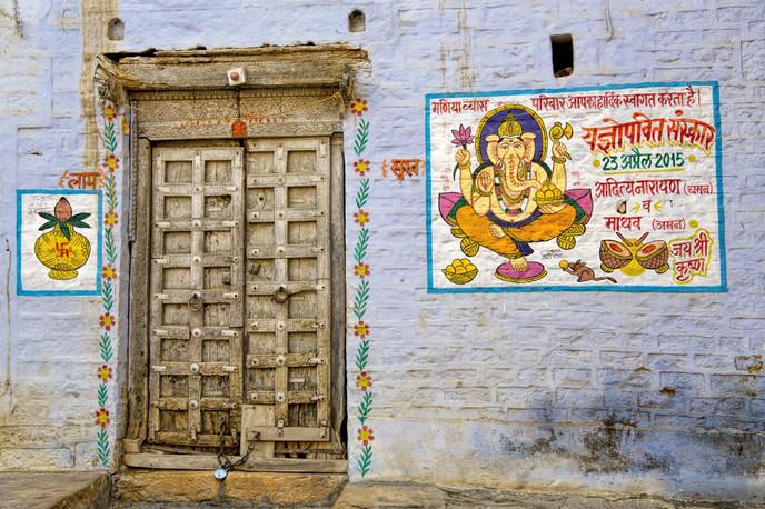 The door in Jaisalmer Fort