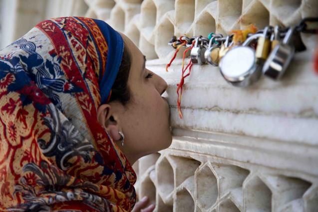 Praying at dargah