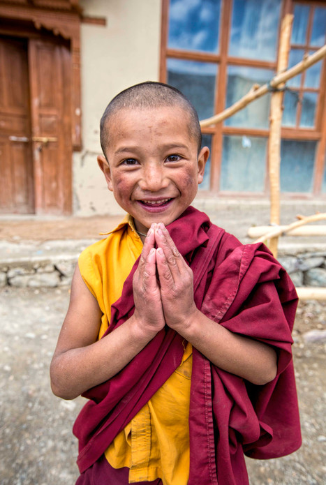 A child monk of the monastery