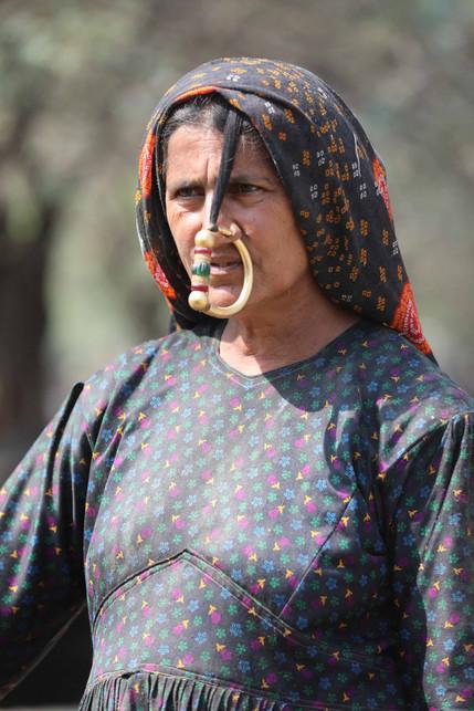 Dhaneta Jat woman in nose ring
