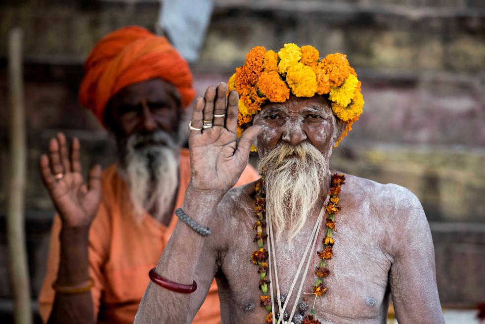 Ash smeared Naga Sadhu