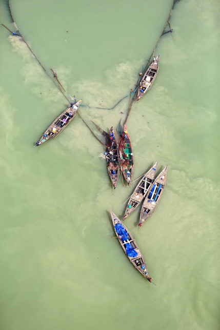 Seven in Jade, Chilika Lake, Orisa