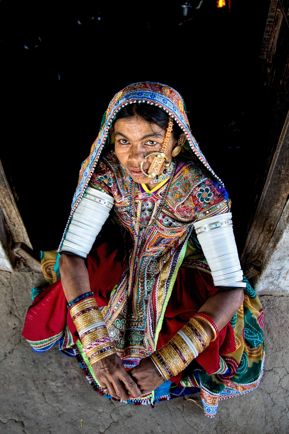 Meghwal woman in her traditional attire