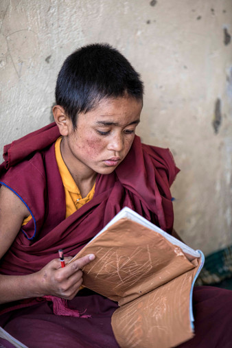 A Monk in his classroom