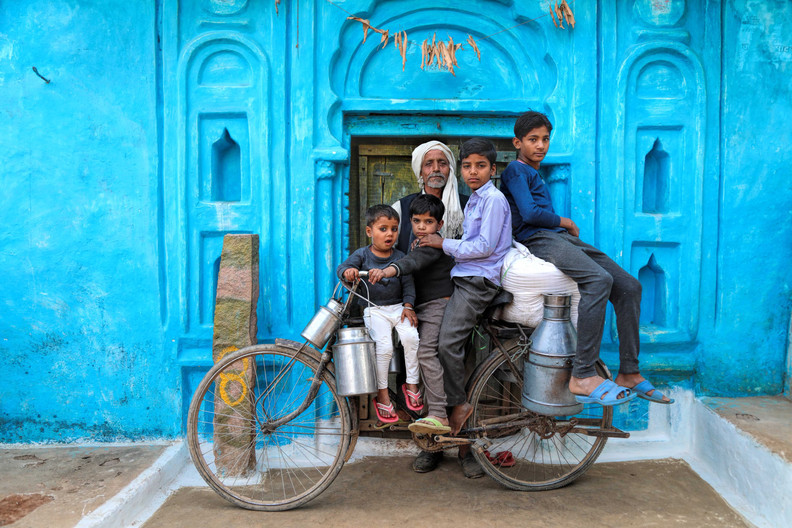 Milkman and his family- Udaipur