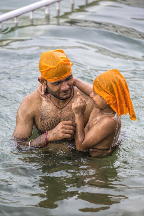 Golden temple cures everyone . The sarovar is thought to be magical