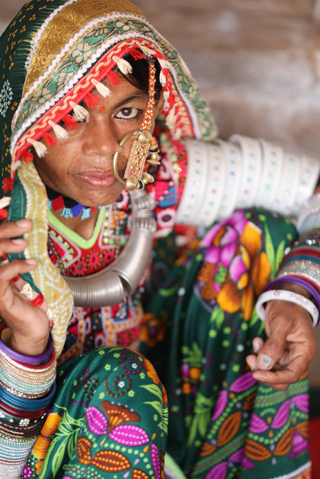 Woman in traditional attire