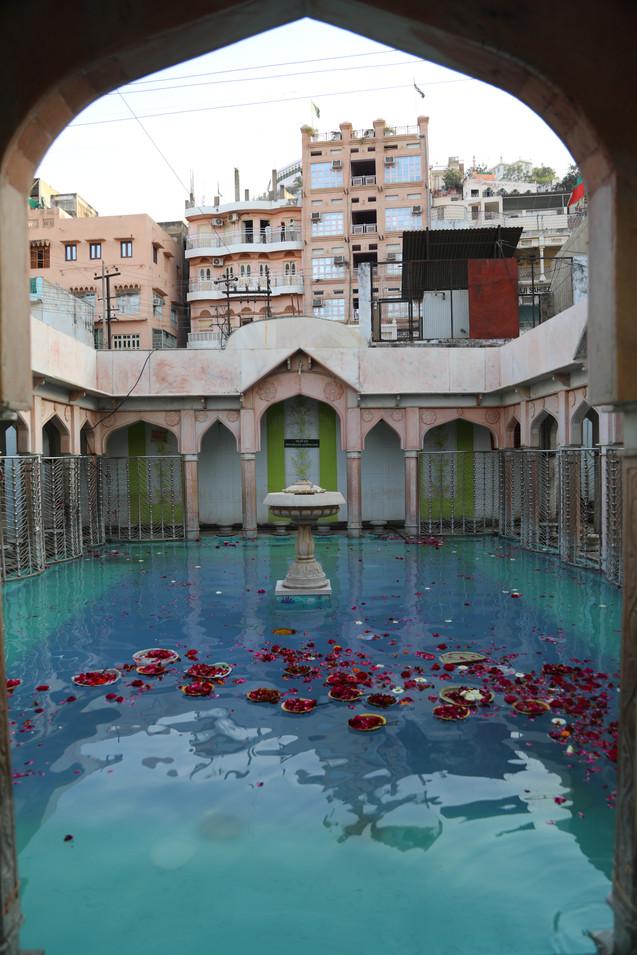 Water tank inside the shrine