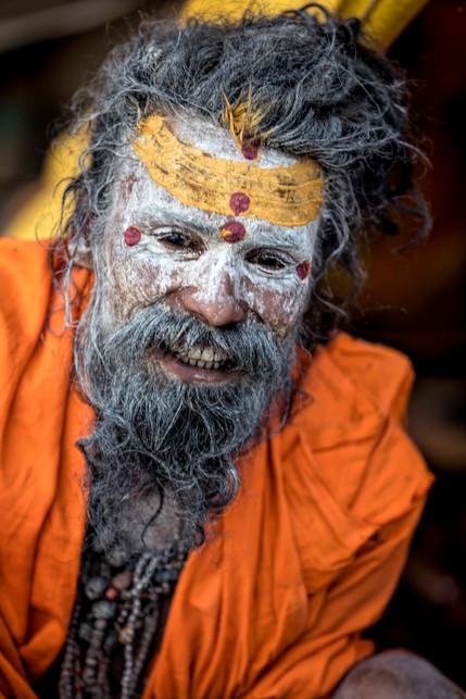 Ash smeared face - The Naga Babas