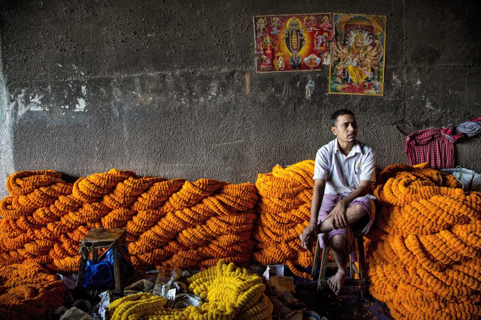 Flower seller -Kolkata