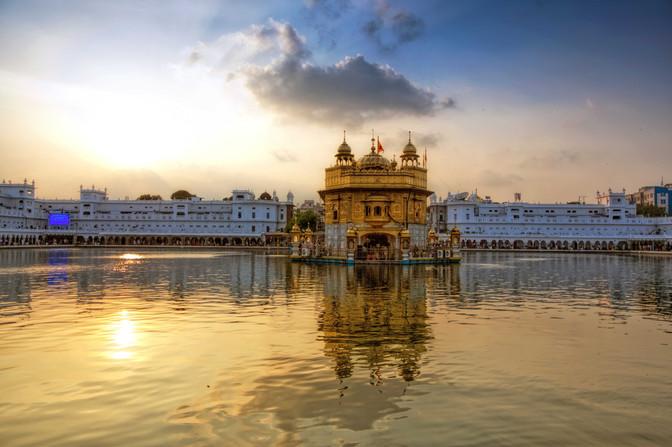 Golden temple sunset