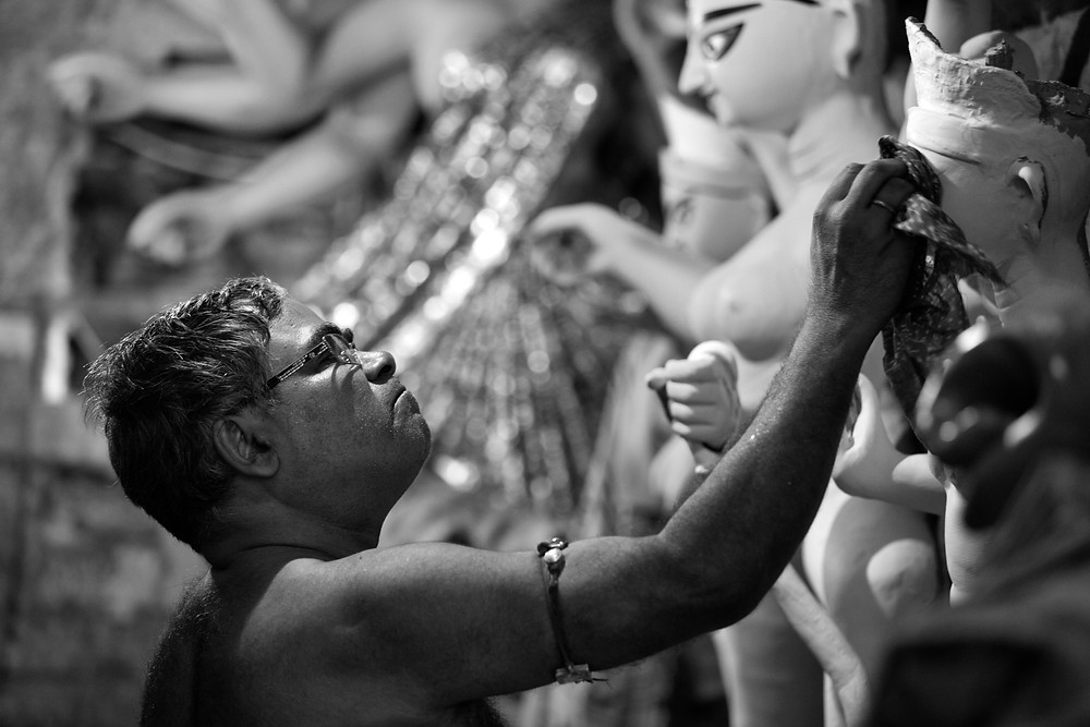 Making of the idols at Kumartuli