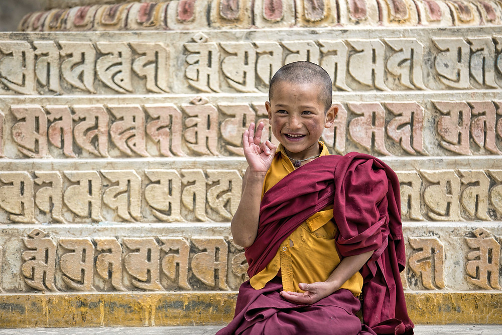 The young Buddhist monks of Ladakh