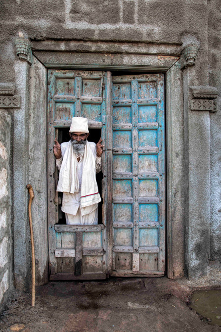 The door of a house in Dwarka