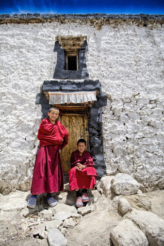 The young monks live in the school for most of the year