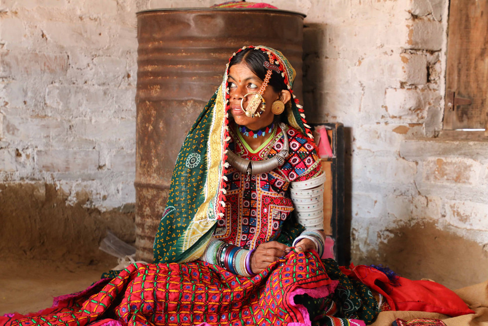 The meghwal embroidery