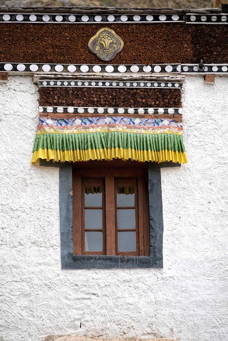 Traditional Tibetian style window