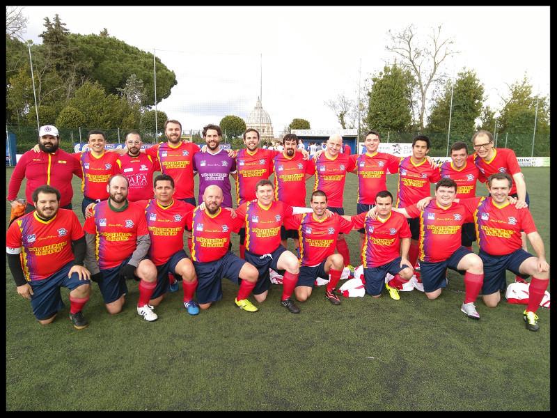 El equipo, antes del tercer partido