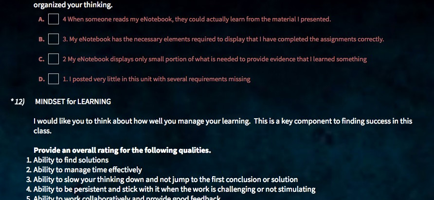 Modify Assessment