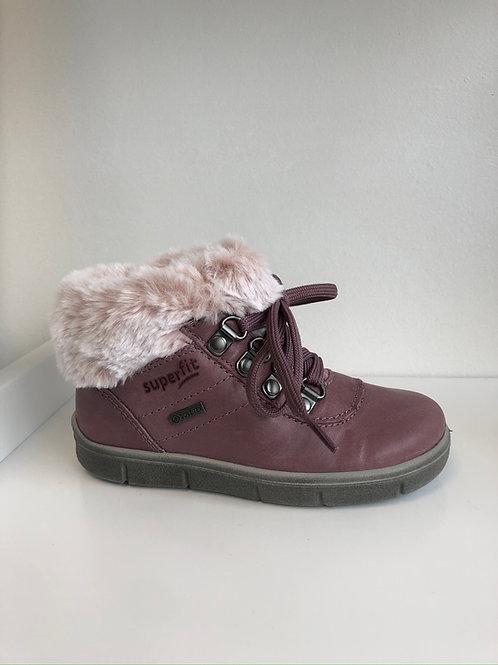 Superfit Ulli Boot (lilac leather/ fur trim)