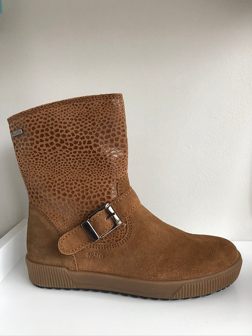 Richter Waterproof Animal Print Boot (cognac suede)