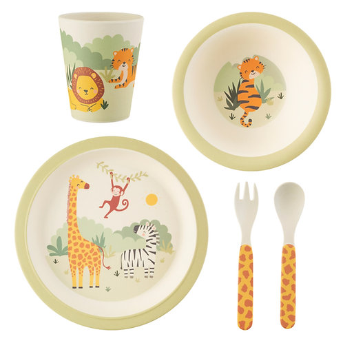 Savannah Safari Bamboo Tableware Set
