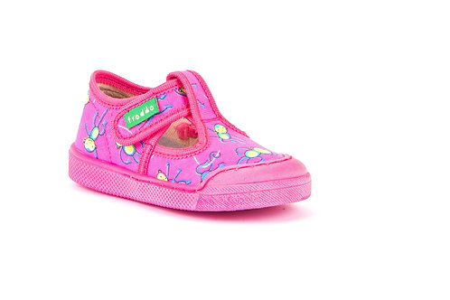 Froddo canvas shoe (pink print)