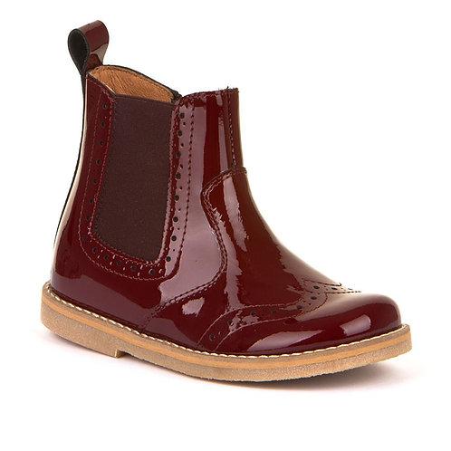 Froddo Chelsea Boot (burgundy patent)