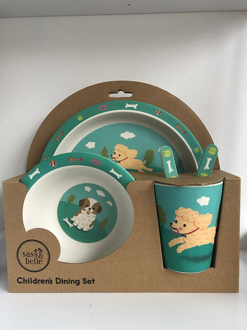 Puppy Bamboo Tableware