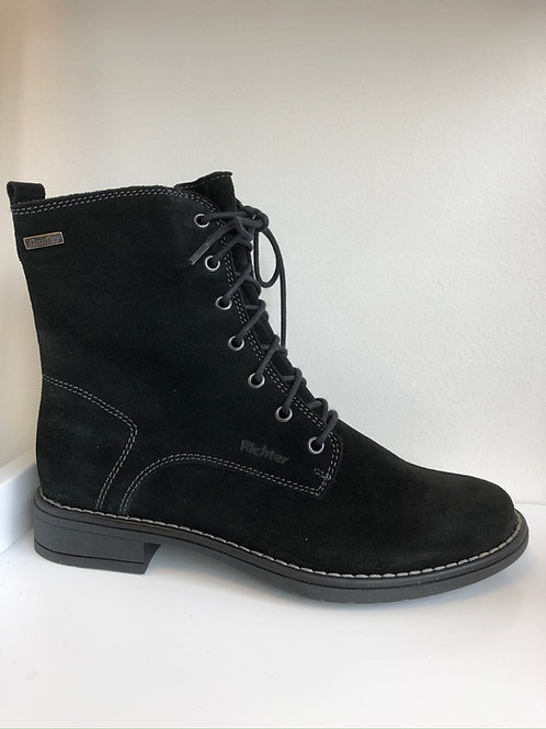Richter Waterproof Lace-up Boot (black suede)