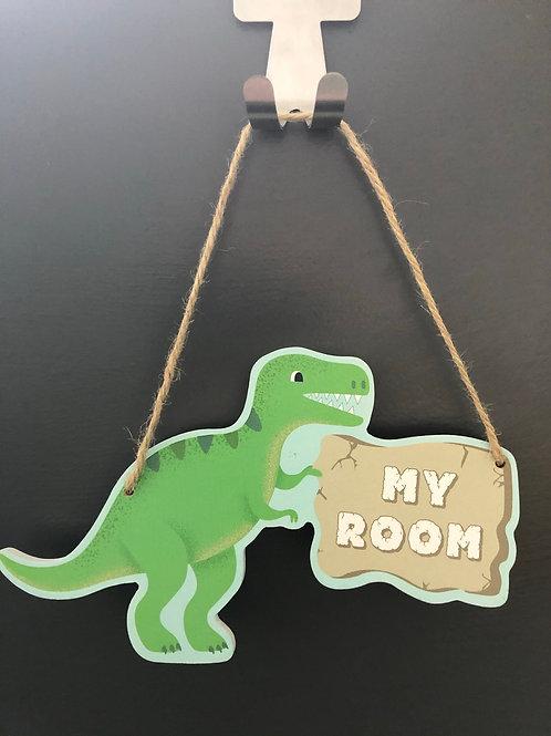 Roarsome Dinosaurs My Room Hanging Plaque