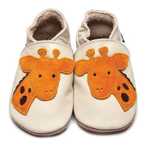 Inch Blue Baby Shoe Giraffe (cream)