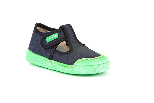 Froddo canvas shoe (navy/green)