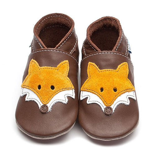 Inch Blue Baby Shoe Mr Fox (chocolate)