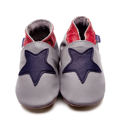 Inch Blue Baby Shoe Starry (grey/navy)