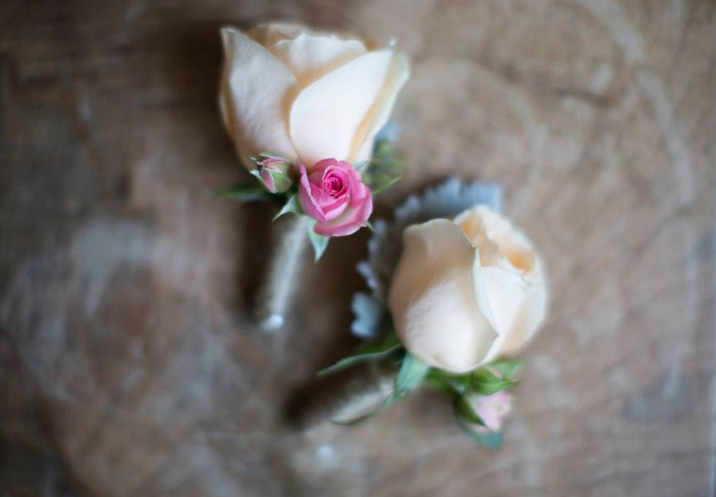 peachy boutonnieres