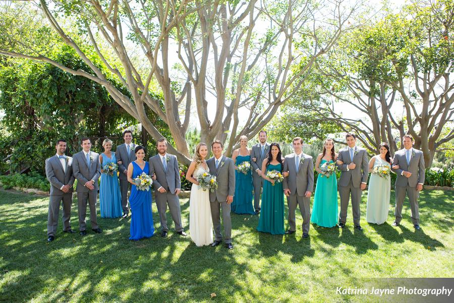 ombre wedding party