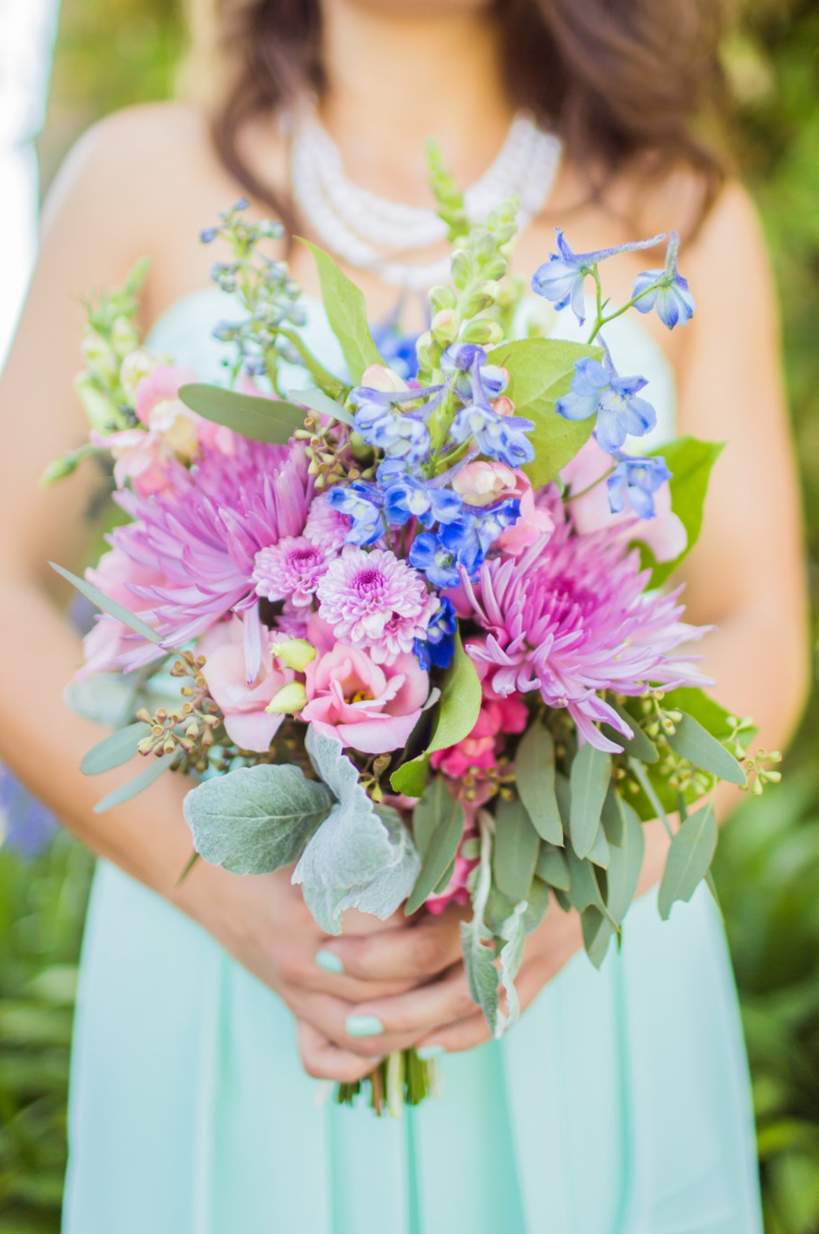 garden inspired bridesmaid bouquet
