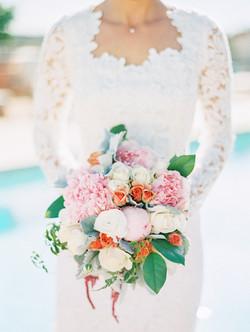 peony fluff bridal bouquet