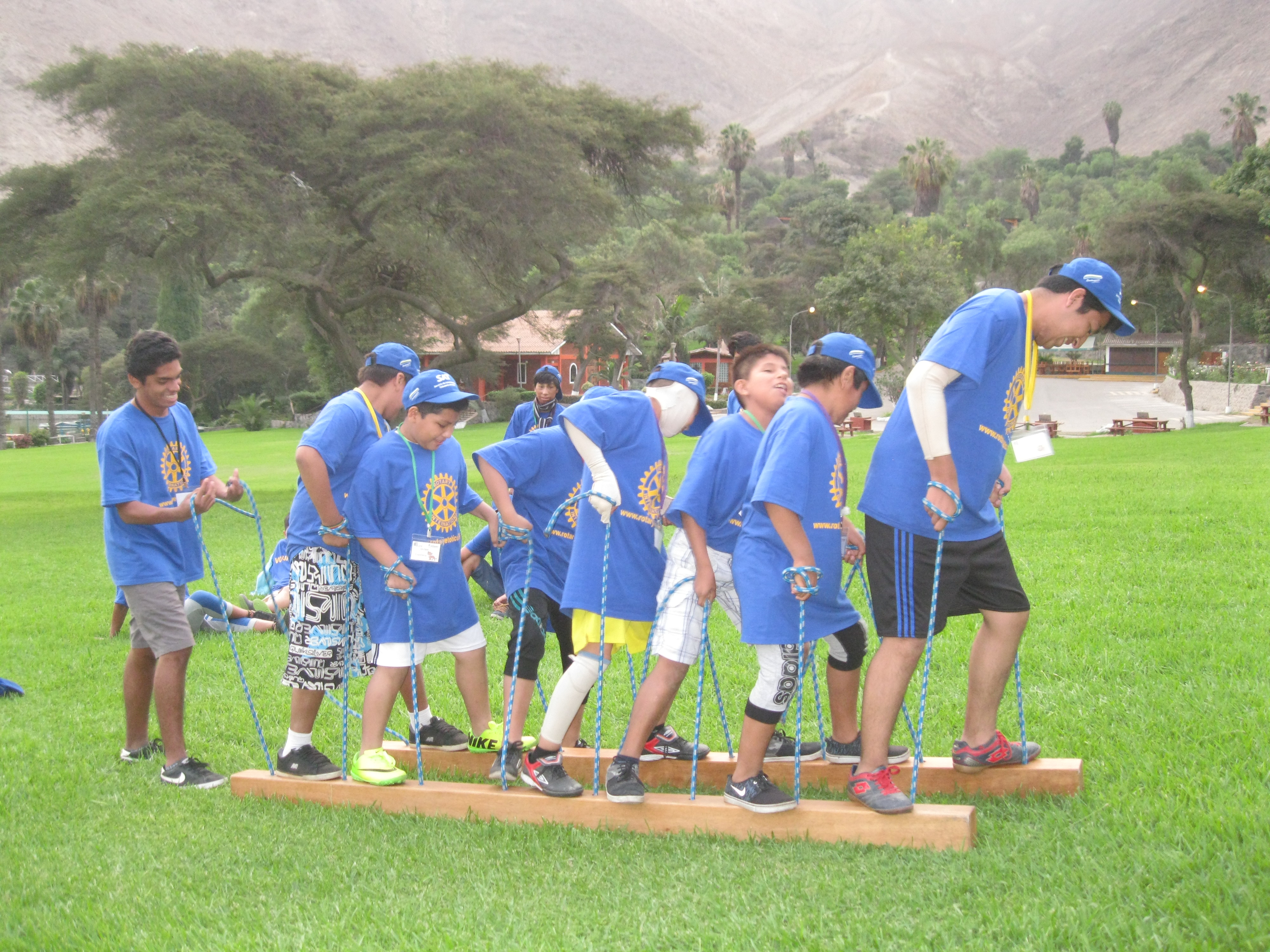 Campers play at CAFA burn camp