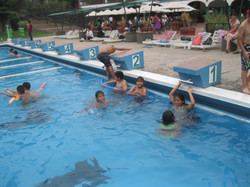 Campers swim at CAFA