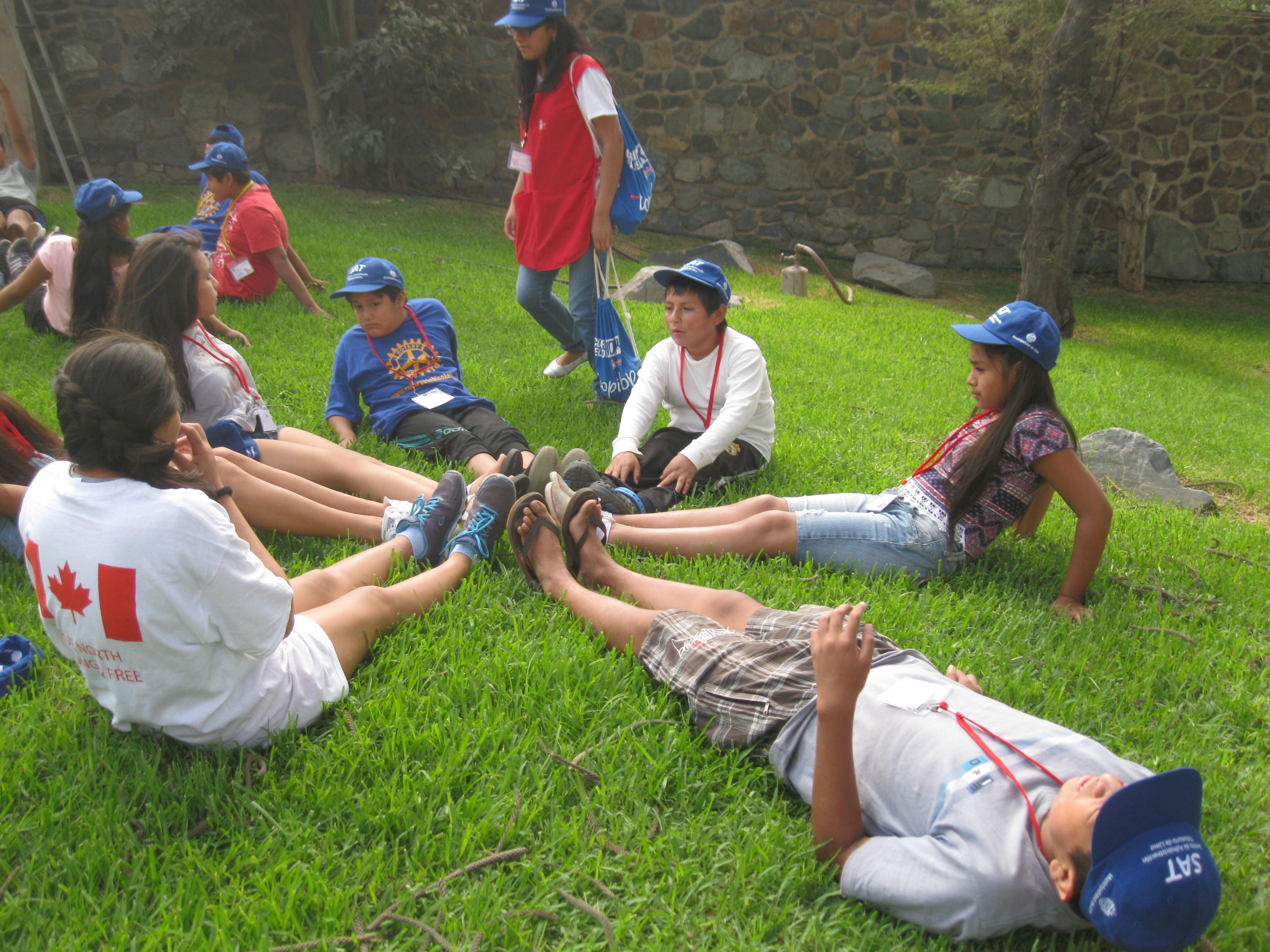 Campers play at CAFA camp